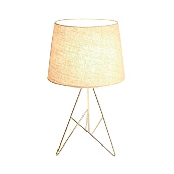 Lámparas de mesa de metal nórdico, posmodernas de tela en blanco y ...