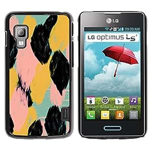 For LG Optimus L5 II Dual E455 E460 Case , Watercolor Animal Pattern Spots - Diseño Patrón Teléfono Caso Cubierta Case Bumper Duro Protección Case Cover Funda