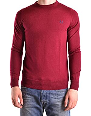 Men's MCBI128183O Red Wool Sweater