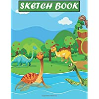 "My Dinosaurs Sketch Book: Practice How To Draw Workbook, with 120 Large Blank Pages of 8.5""x11"" Blank Paper for Drawing…"