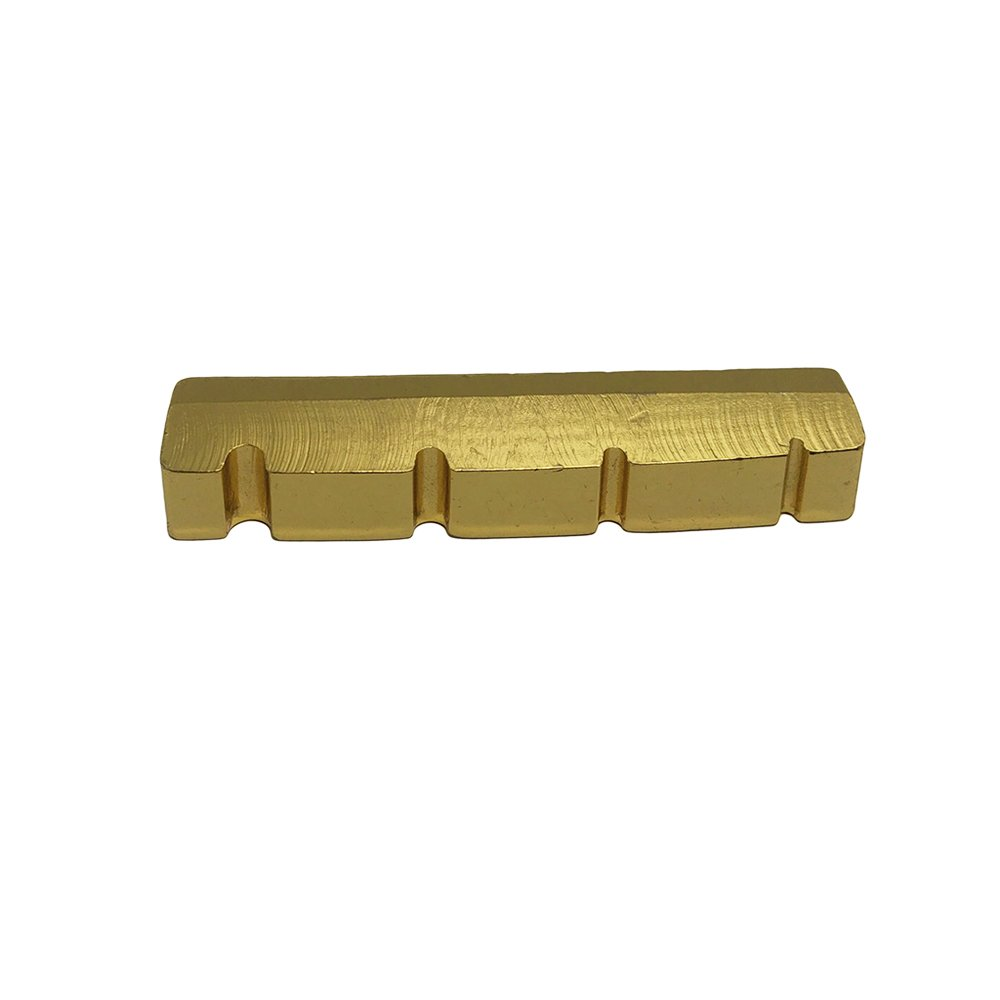 JYFY Nut Brass String Slotted for 4 String Electric Bass Guitar Part Replacement (42.3mm/1.66inch)