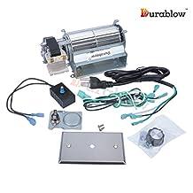 Durablow MFB005-A GFK21, FK21 Replacement Fireplace Blower Fan Kit for Heatilator, Majestic, Vermont Castings, Monessen, Heat n Glo, FMI, CFM, DESA, Rotom HB-RB21