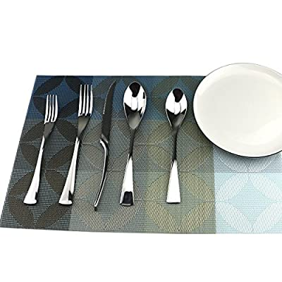S-JIANG Silverware Flatware Cutlery Set, 18/10 Stainless Steel Serrated Steak Knife Utensils Service for 1Person with Gift Box Package, Mirror Polished, Dishwasher Safe - 5 Pieces in 1 Set: This flatware set serves for 1 people, silver utensil set contains :1*Steak Knife, 1*Dinner spoon, 1*Teaspoon, 1*Dinner Fork, and 1* Dessert Fork. Premium Material: 18/10 stainless steel dinnerware set for everyday meals, never worried it will rust or bend. Dishwasher safe. Modern Design: Mirror polished finish and durable elegance appearance, can match with all contemporary tableware. Designed to provide good grip for adults and kids. - kitchen-tabletop, kitchen-dining-room, flatware - 51dQ13JBJJL. SS400  -