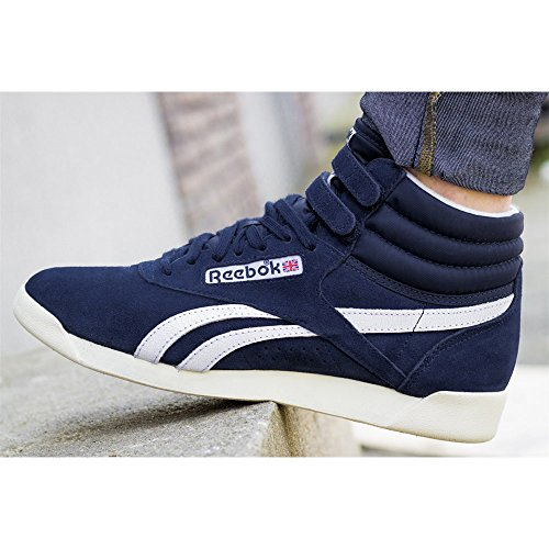 Bleu de Gymnastique Freestyle Femme Chaussures Hi Reebok qP7xYUY