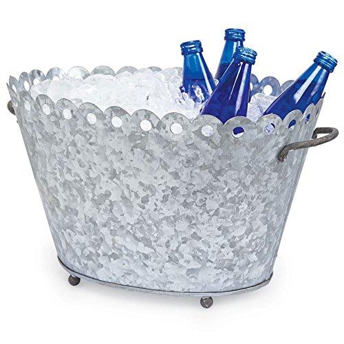 Fleur De Lis Metal Beverage Tub (Tub Lis Fleur Beverage De)