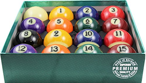"Aramith 2-1/4"" Regulation Size Premium Billiard/Pool Balls, Complete 16 Ball Set"