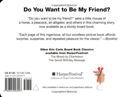 Do You Want to Be My Friend? Board Book: Eric Carle: 9780694007097 ...