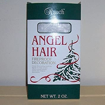 ornamental vintage spun glass angel hair christmas decoration 2 ounce box fireproof