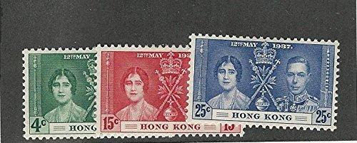 Hong Kong, Postage Stamp, 151-153 Mint Hinged, 1937