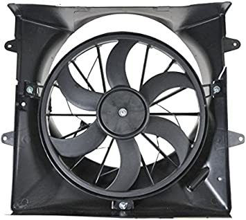 Radiator Cooling 6 Blade Fan /& Shroud for 99-03 Jeep Grand Cherokee