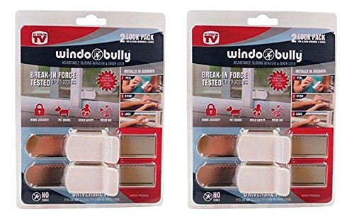 WINDOBULLY WNDW LOCK by WINDO BULLY MfrPartNo 528 (4 pack) by Windobully