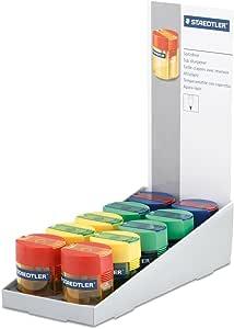 Staedtler 511 006 - Afilalápices con depósito transparente de colores variados. Caja con 10 unidades.: Amazon.es: Oficina y papelería