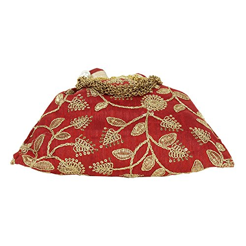 pour Superbe Broderie main Sac Polti Sac à Colured traditionnelle indienne à Maroon main femme Collection nggYOX1