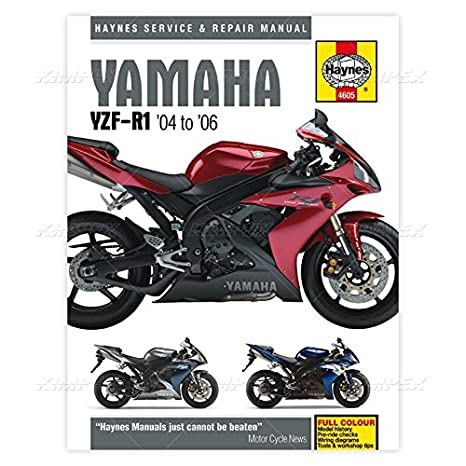 amazon com yamaha yzf r1 haynes repair manual 2004 2006 automotive rh amazon com 2006 yzf r1 service manual 2007 R1