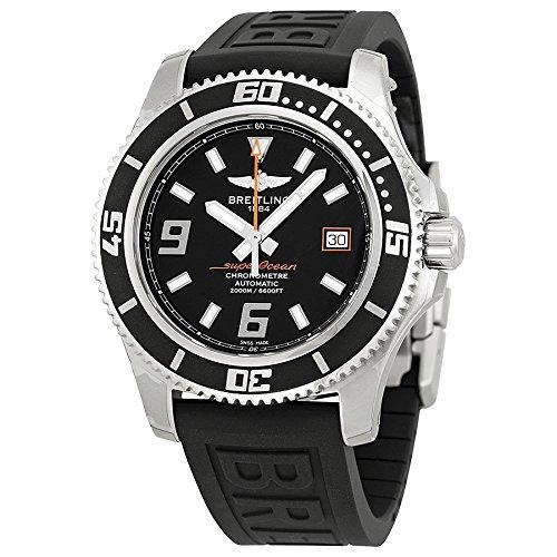 Breitling Superocean 44 Negro Dial Negro Goma Mens Reloj a1739102-ba80bkpd3