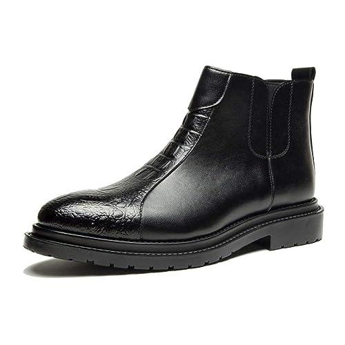 Calzado Alto De Hombre, Botines Negros De Vestir De Negocios, Botas De Martin Retro Puntiagudas, Zapatos De Vestir De Tendencia De Moda: Amazon.es: Zapatos ...