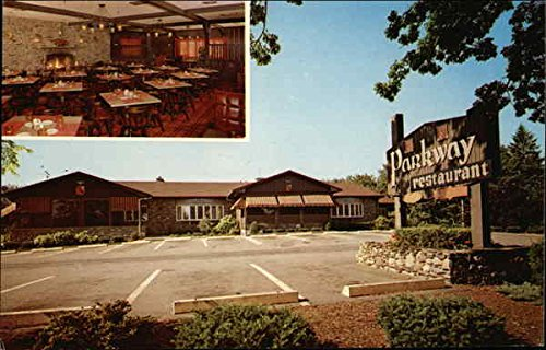 Parkway Restaurant Inc  Brockton  Massachusetts Original Vintage Postcard
