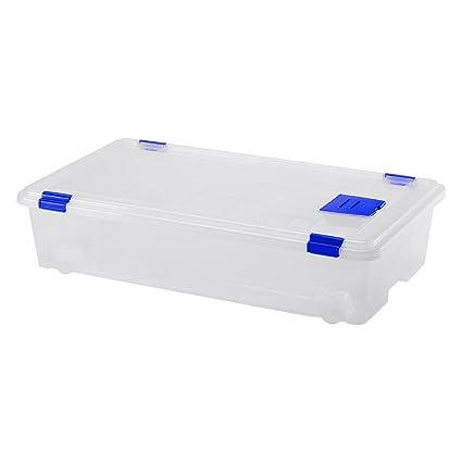 "Gran plástico Mod. 4"" Clasificar Caja con Ruedas, Natural"