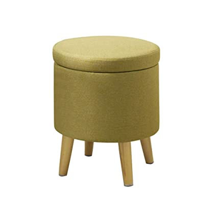 Cool Amazon Com Round Storage Toy Box Stool Wooden Ottoman Ncnpc Chair Design For Home Ncnpcorg