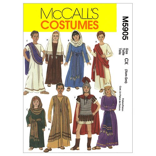 Costumes Patterns Mccalls (McCall's Patterns M5905 Children's/Boys'/Girls' Biblical Costumes, Size CX)