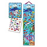 eeBoo Big Blue Whale Height Growth Chart for Boys