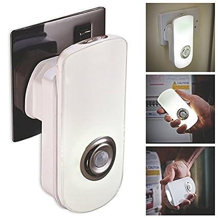 costmad 18 LED Dos Función Lámpara Mesilla & Portátil Seguridad Linterna Automático Sensor de Movimiento PIR