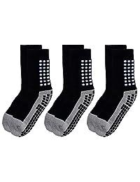 RATIVE Anti Slip Non Skid Slipper Hospital Socks with Grips for Adults Men Women