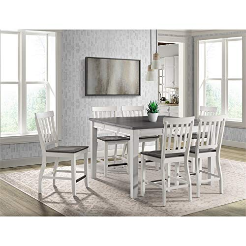 Picket House Jamison Two Tone 7 Piece Counter Height Dining Set