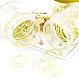20 PCS Gold Round Circular Clips, Creative Metal Paper Clip, Special Shaped Bookmarks Stationery Office Supplies for School/Home/Office