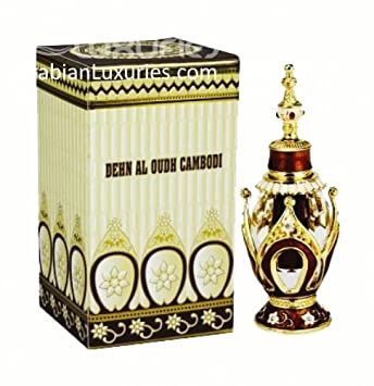 Dehn al Oudh Cambodi - Arabian Designer Therapeutic Essential Perfume Oil Fragrance - Long Lasting Attar