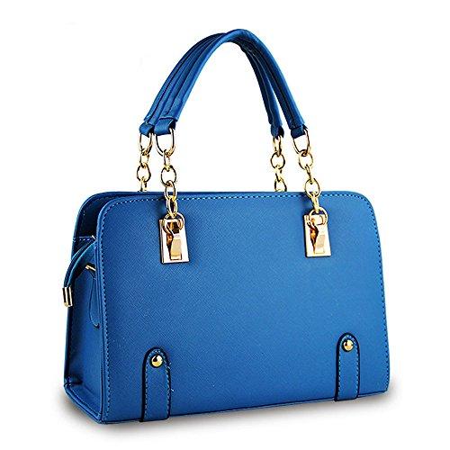 Elegante Deley Moda Bolso Aqua Color Estilo Oficina Caramelo Bolsa Azul De Mujere Hombro Tote qEZwrE