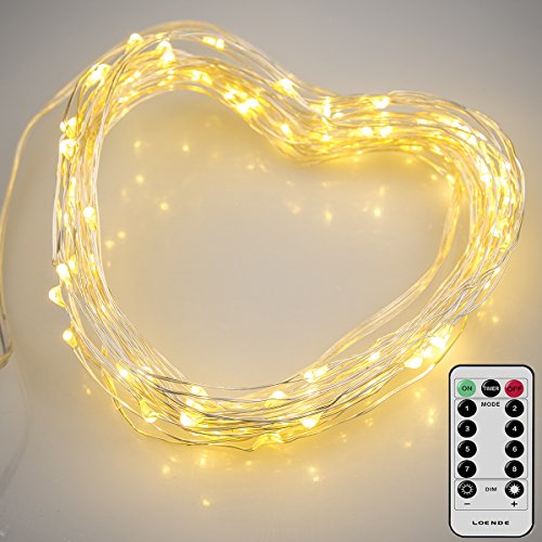 loende led fairy lights fairy string lights christmas string lights 8 mode 50 led remote battery string lights copper wire firefly lights for wedding