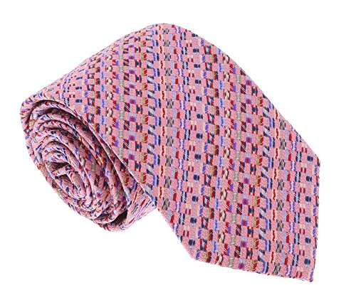 Missoni U5281 Pink basketweave 100% Silk Tie for - Tie Basketweave