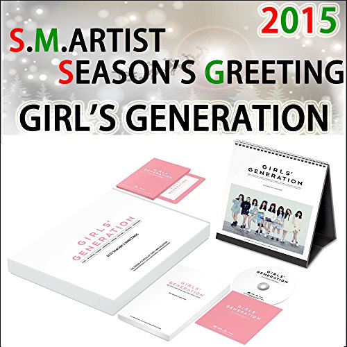 Girls Generation 2015 Season Greeting with Desk Calendar /mini Calendar Scheduler 12pcs /Making DVD [ Book sale now (released in Korea in mid-December)