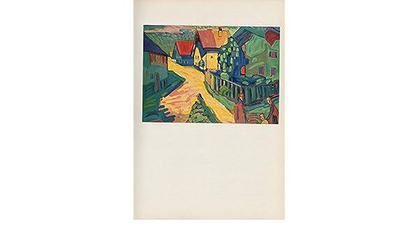 "1958 Vintage KANDINSKY /""STREET IN MURNAU/"" GORGEOUS COLOR Art Print Lithograph"