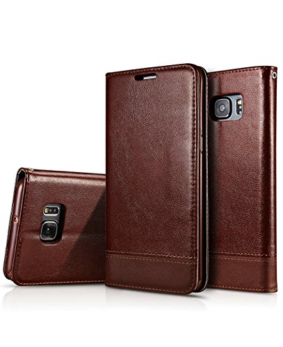 Galaxy S7 Edge Flip Case, Crosspace S7 Edge Wallet PU Leather Cases Magnetic Folio Book Stand Cover with Card Slots for Samsung Galaxy S7 Edge 5.5