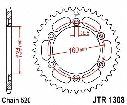 JT Sprockets JTR1308.42 42T Steel Rear Sprocket