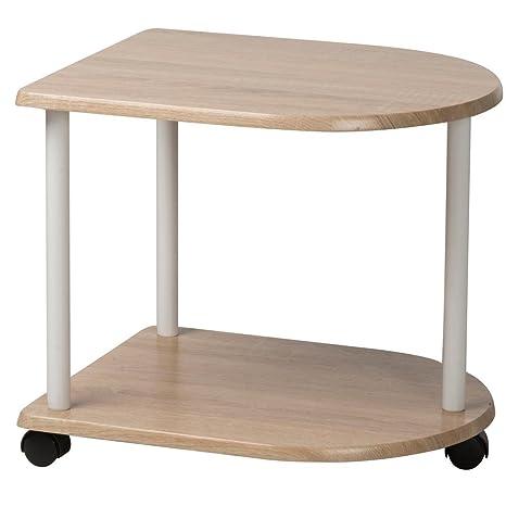 Bakaji revistero mesa sala d espera Trolley mesilla 48 x 40 x 42 cm, con ruedas (madera DM y metal