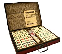 Collectible Chinese Antique Style Mahjong Game Set W. Leather Case GAM020の商品画像