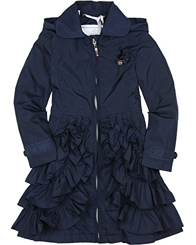 Le Chic Girl's Navy Coat With Ruffles, Sizes 4-14 - 8/128 by Le Chic