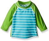 i play. Baby Boys' Three-Quarter Sleeve Rashguard Shirt, Aqua Stripe, 18 Months