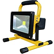 Nicholas TGD-003 Sanan LED 30W Super Bright Rechargeable Portable Work Light + 12V Car Charger + 120V AC-DC Charger