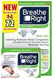 #6: Breathe Right Extra Strength Drug-Free Nasal Strips for Nasal Congestion Relief, 72 Count
