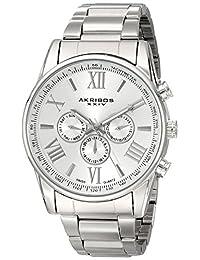 Akribos XXIV Men's AK736SS Ultimate Swiss Stainless Steel Bracelet Watch