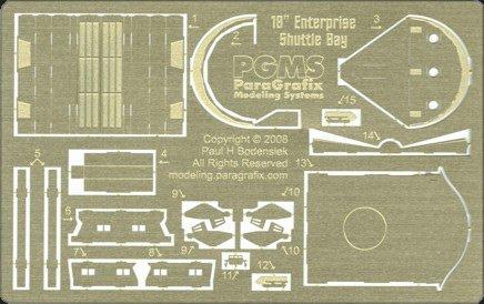 AMT 1/650 スタートレック NCC-1701 U.S.S エンター プライズ用 格納デッキ内エッチングパーツの商品画像