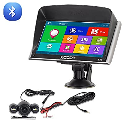 Xgody 826 Bluetooth Car Truck GPS Navigation 7 Inch Touch Screen 8GB/258MB with 8GB TF Card SAT NAV Lifetime Maps Update Navigation System for Car from Shenzhen Xin Sheng Shang Technology Coltd