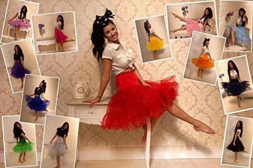 50's Retro Black Underskirt Red White Rosa 1950's Petticoat Boolavard Rockabilly Vintage wt8BdU1wnq