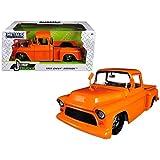 just trucks - JADA 1:24 W/B Just Trucks 1955 Chevrolet Step Side Die-Cast Vehicles, Orange