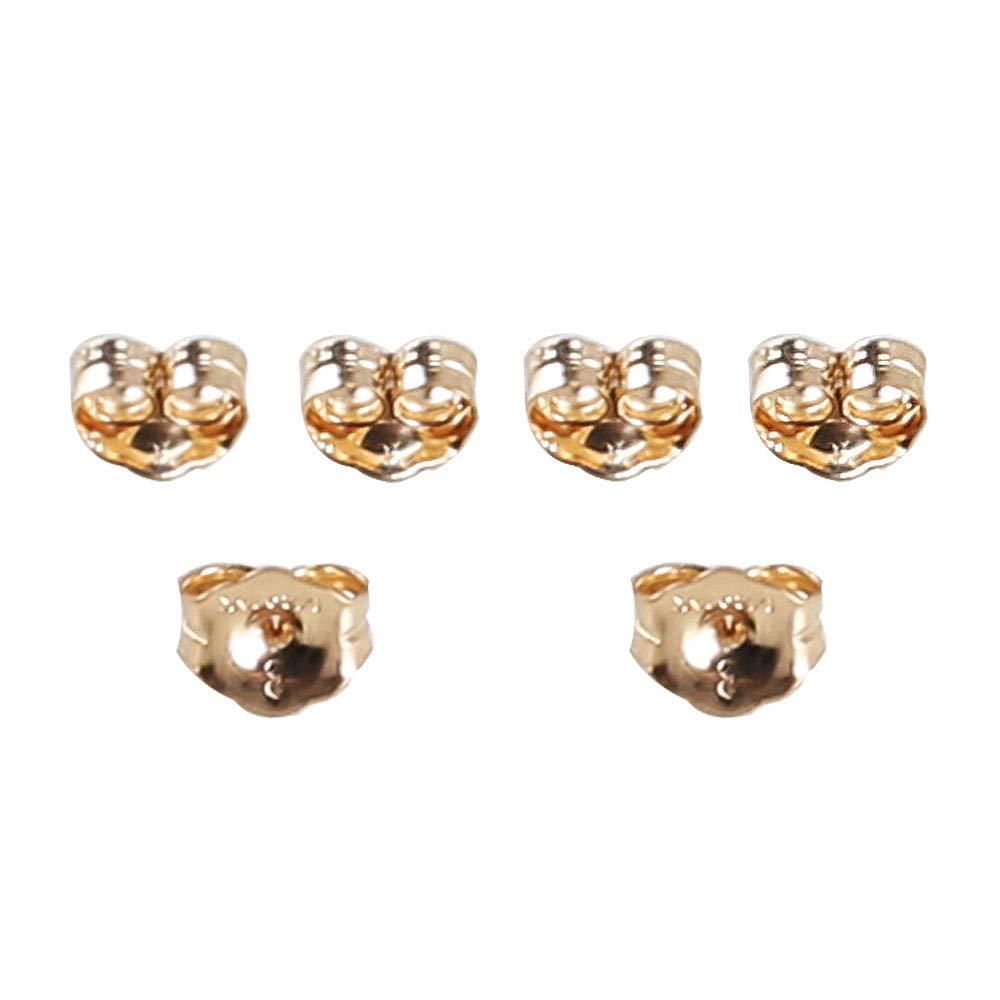 6 Piece 14K Yellow Gold Earring Backs Ear Locking