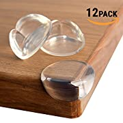 TEEHOME Corner Guards (12 pack) Update 2018 REAL STRONG ADHESIVE Protect Children From Injury | Corner Covers Baby Safety | Table & Furniture Corner Protectors Clear | Child Proof Corner Bumpers
